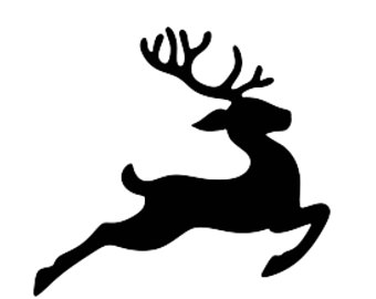 reindeer outline template - Ukran.soochi.co