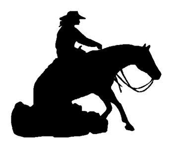 347x299 Lady On Reining Horse Decal 10 In Sticker And 50 Similar Items