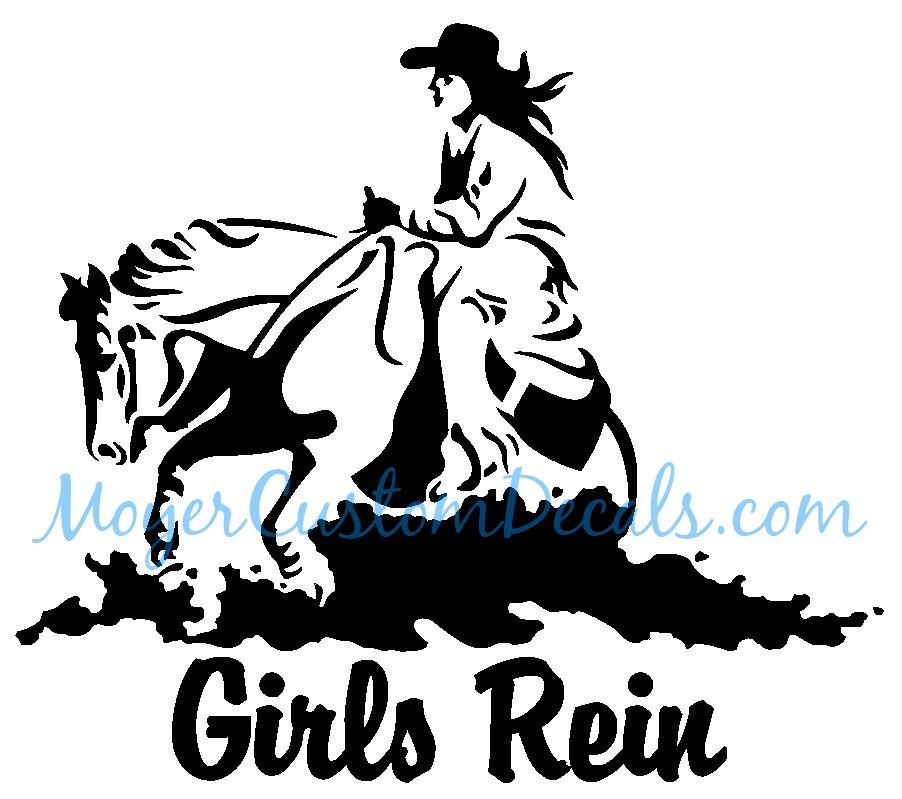 902x799 Reining Horse Sliding Stop Western Rider Vinyl Decal Sticker