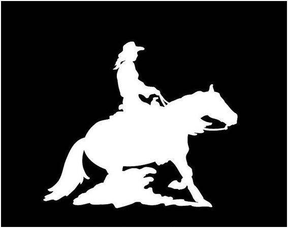 567x450 Reining Horse Decal