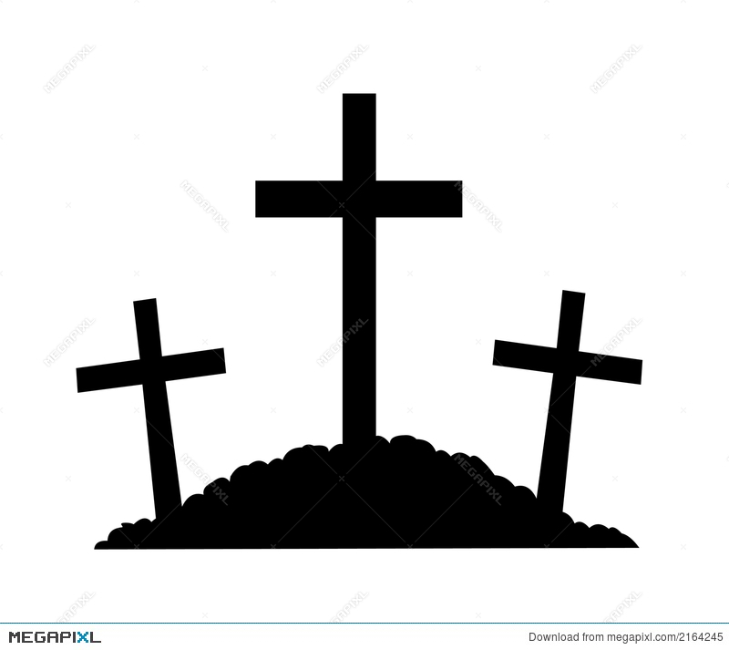 800x713 Mount Calvary Silhouette Illustration 2164245