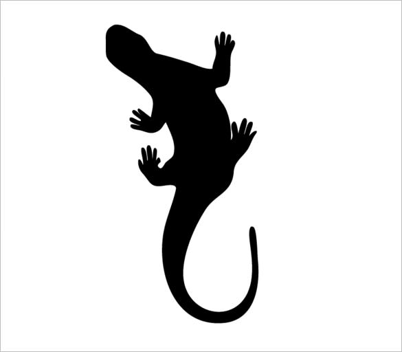 The best free Lizard silhouette