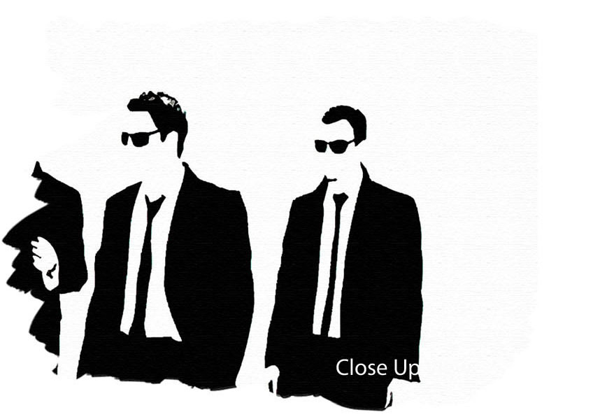 848x599 Reservoir Dogs Walking People 3 Panel Canvas 3 Panel Set Canvas