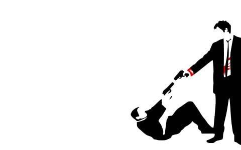 480x300 Reservoir Dogs, Gun, Vector, Silhouette