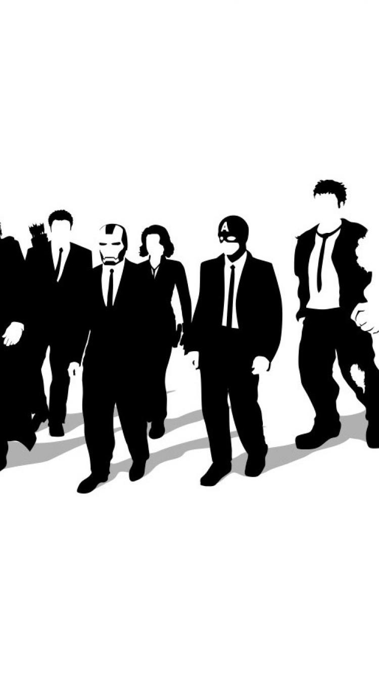750x1334 Reservoir Dogs The Avengers Crossovers (Movie) Background