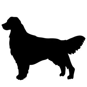 300x300 New Golden Retriever Silhouette Sticker Dog Show Breed Decal