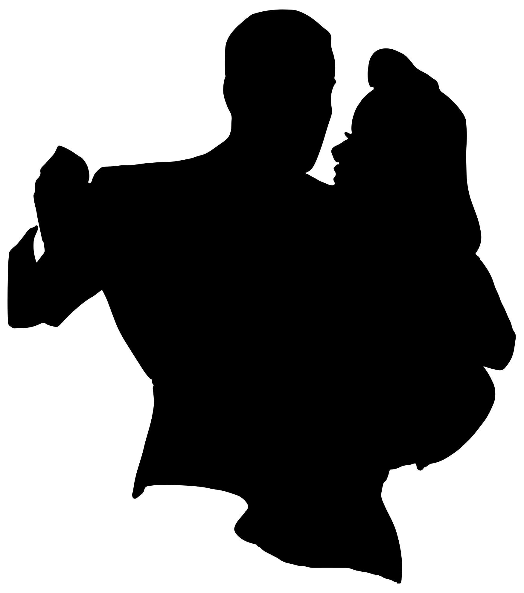 1752x1983 Retro Dancing Couple Silhouette Clipart