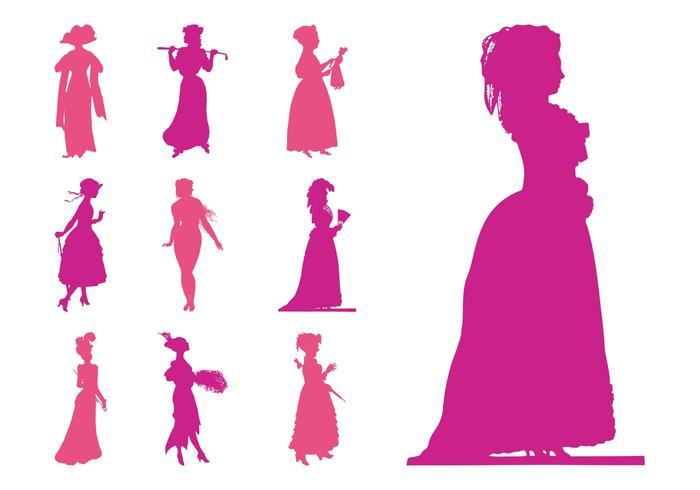 700x490 Retro Women Silhouettes