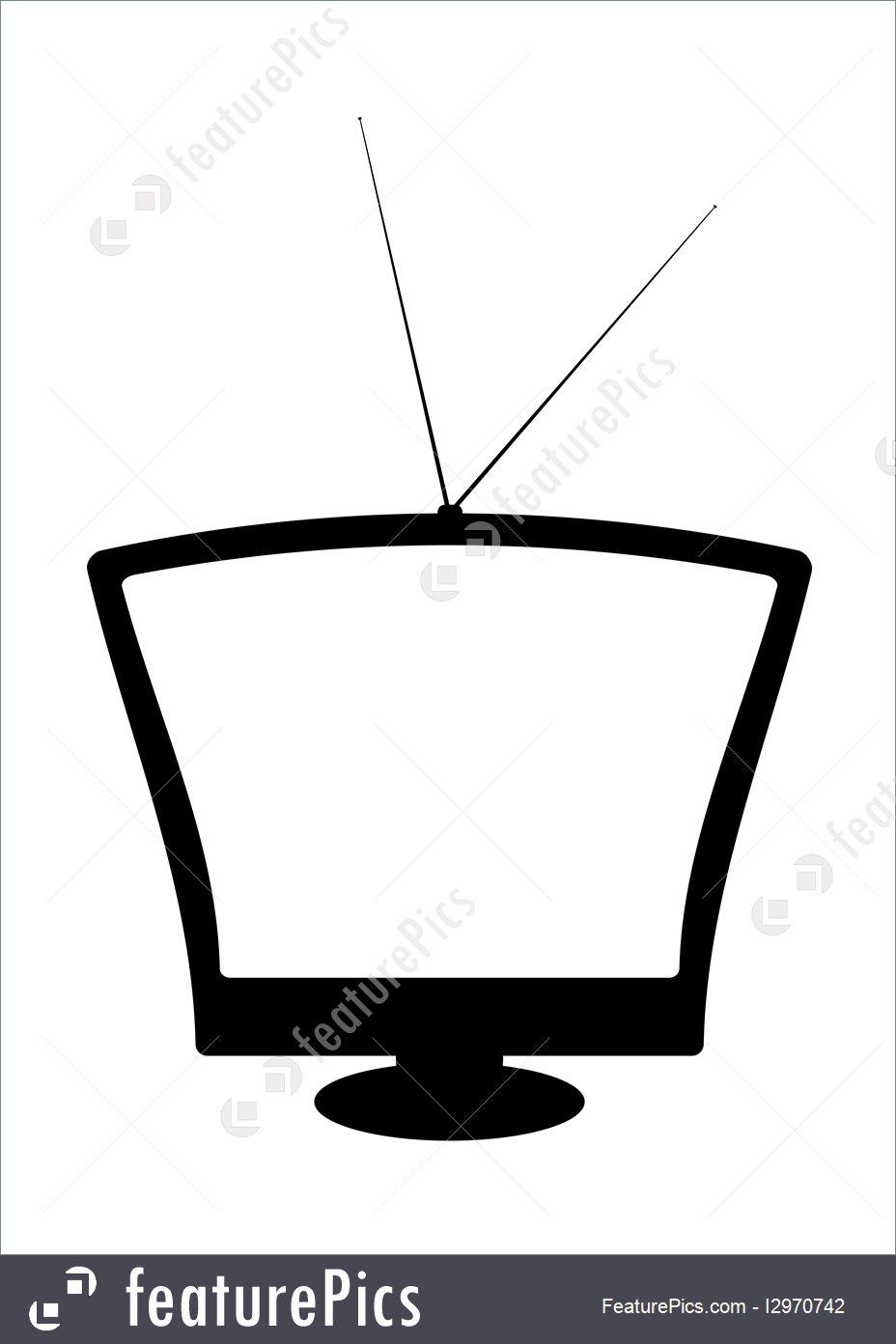 928x1392 Technology Retro Silhouette Television