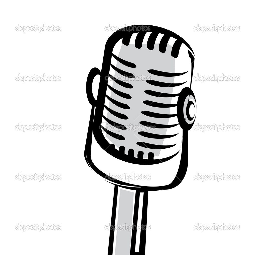1024x1024 Microphone Silhouette Clipart