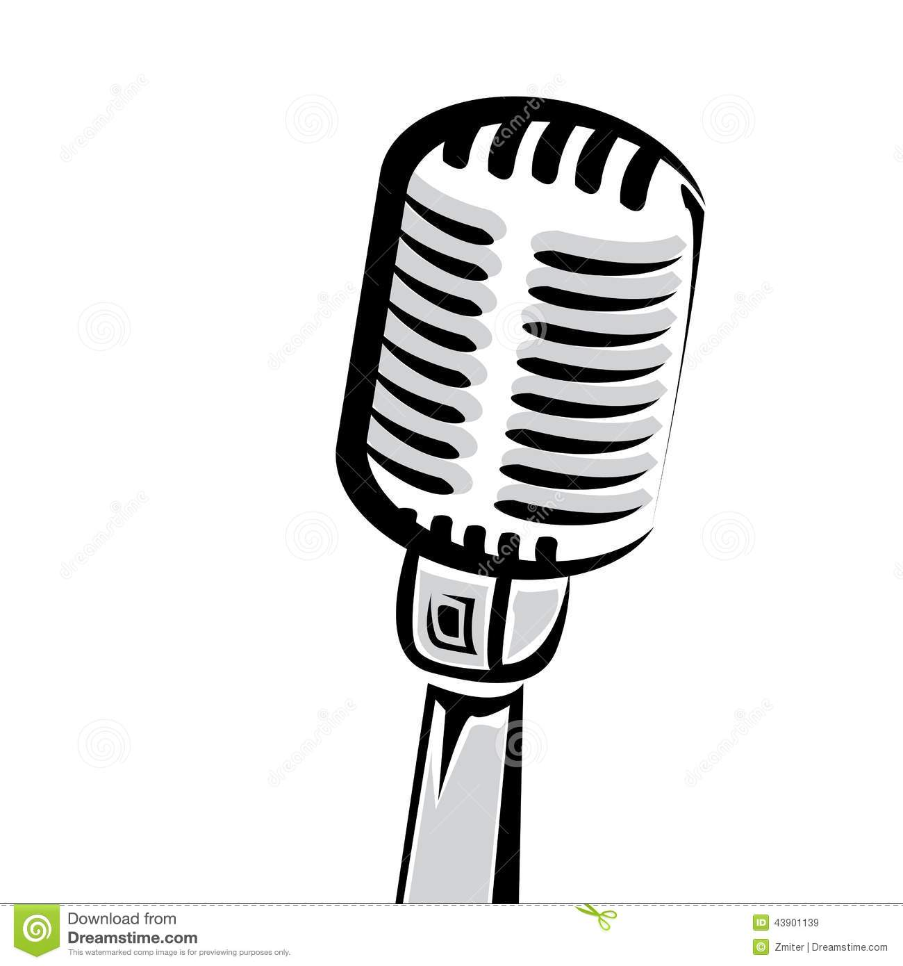 1300x1390 Classic Microphone Silhouette Clipart Collection