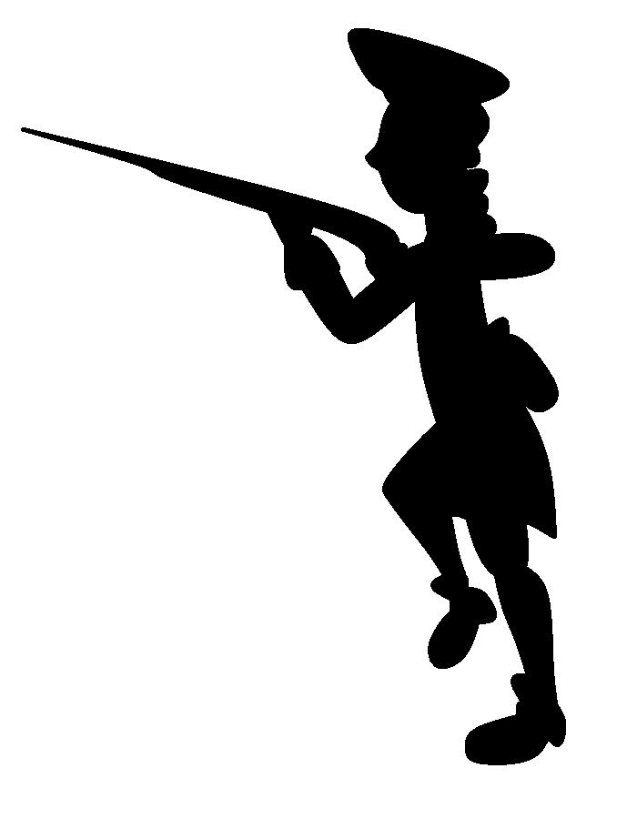 700x900 Revolutionary War Soldier Cartoony Silhouette By Wertyla