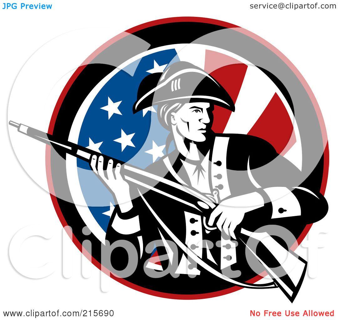 1080x1024 Royalty Free (Rf) Clipart Illustration Of A Revolutionary War