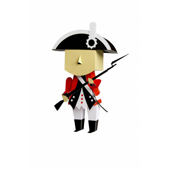 570x570 Svg File Of 3d British Revolutionary War Soldier 4th Of July +