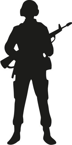 236x475 Saluting Army Soldier's Silhouette Isolated On White (Memorial Day