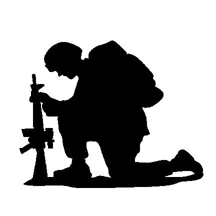 432x432 Soldier Praying Clipart