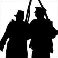 200x200 War Clipart Silhouette
