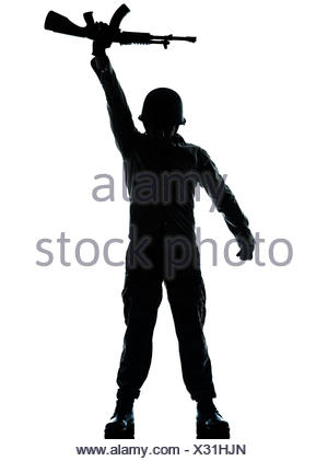 300x421 One Caucasian Revolutionary Army Soldier Man Holding Ak47