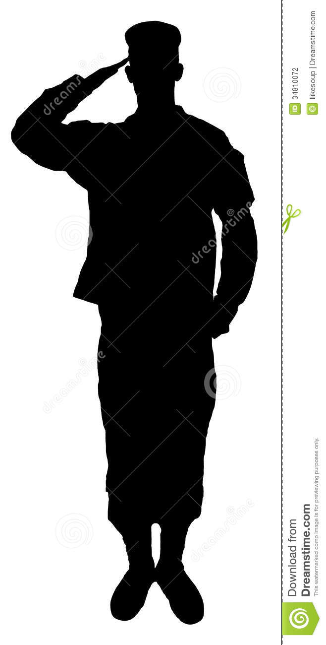 658x1300 American Soldier Silhouette Clipart