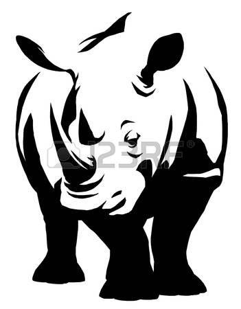 Rhino Head Silhouette