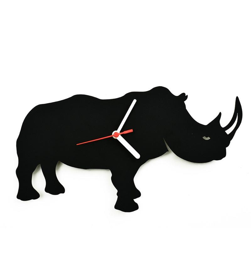 800x880 Buy Osaree Black Acrylic 12 X 6.8 Inch Rhino Silhouette Nursery