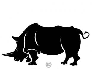 310x233 Rhino Silhouettes Free Vector Free Vectors Ui Download