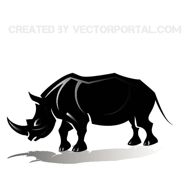 660x660 Rhinoceros Vector Silhouette