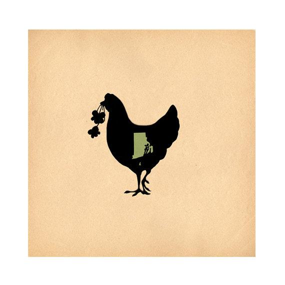 570x570 Rhode Island State Bird Amp Flower Print Of Original Papercut