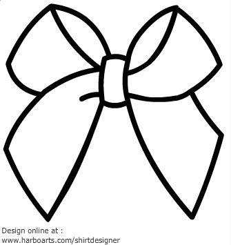 335x355 Ribbon Bow Outline Graphic Design Outlines, Cricut