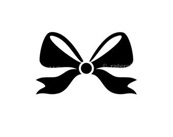 340x270 Bow Silhouette Etsy