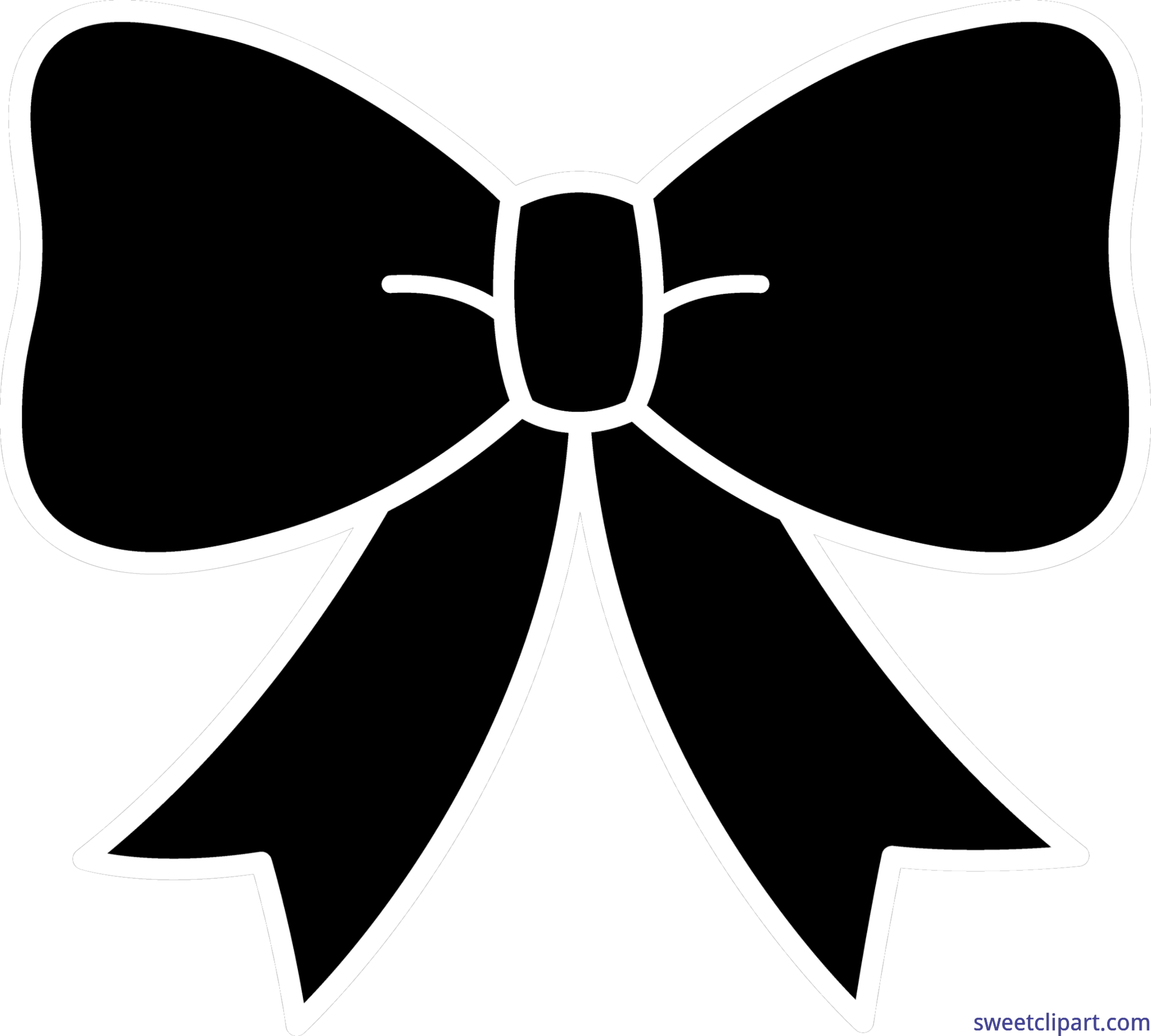 4606x4145 Bow Ribbon Silhouette Clip Art
