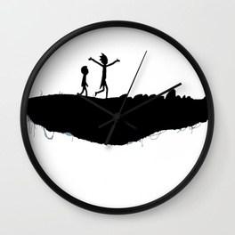 264x264 Rick And Morty Wall Clocks Society6