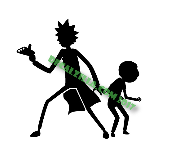 552x542 Rick And Morty Silhouette Decal Sticker