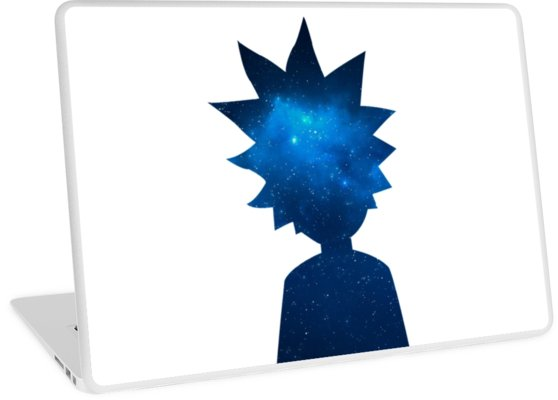558x400 Rick And Morty Universe Silhouette Laptop Skins By Pairofdocx