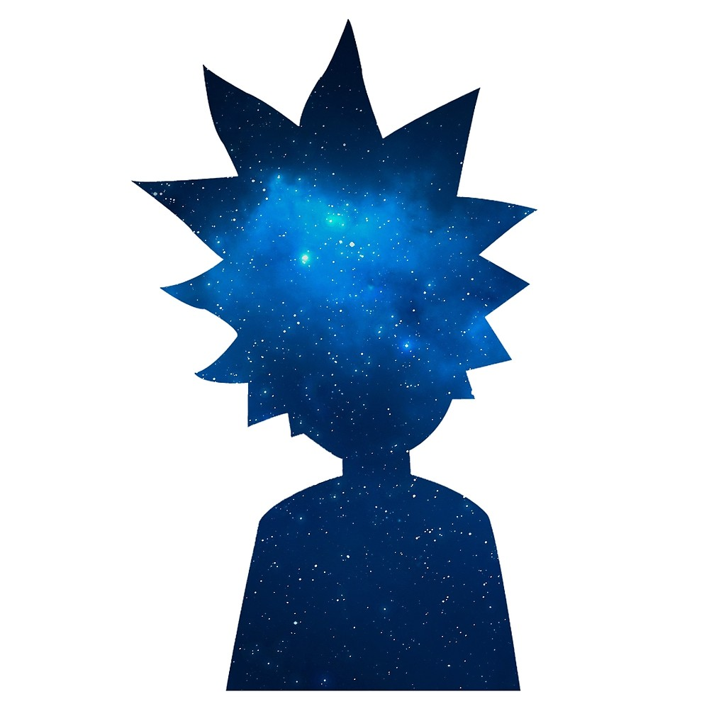 1000x1000 Rick And Morty Universe Silhouette By Pairofdocx Redbubble