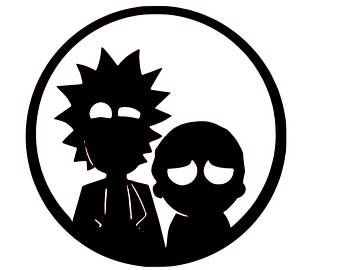 rick and morty silhouette at getdrawings com free for personal use