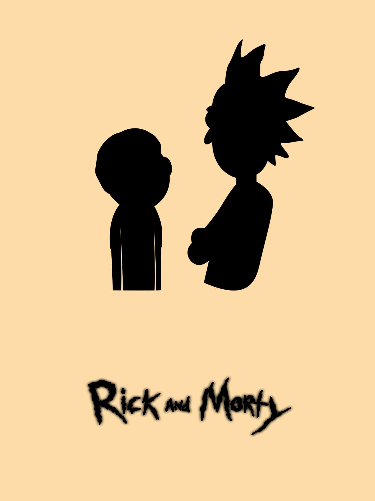 1296x1728 Feedback] I'M Working On A Rick And Morty Minimalistic Poster. How