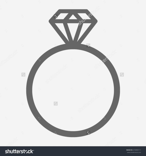 618x660 Engagement Ring Silhouette Elegant Wedding Ring Vector