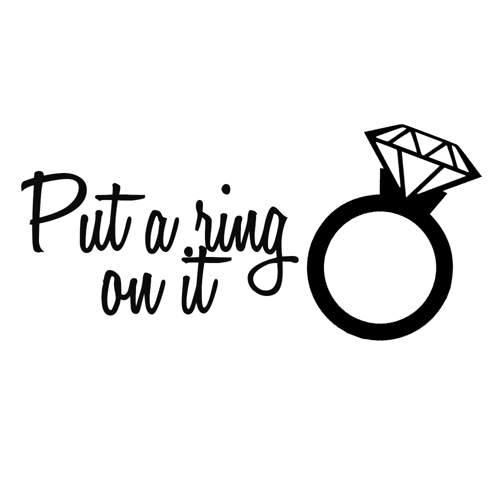 1002x1002 Wedding Ring Funny Put A Ring On It Silhouette Vinyl Sticker Car Decal