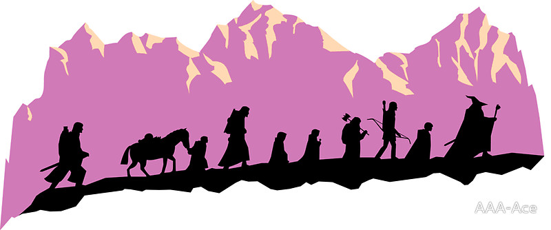 800x334 Lord Of The Rings Clipart Fellowship