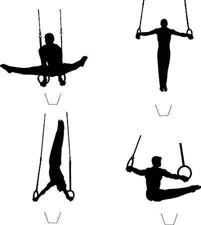 402x450 Novelty Male Gymnast Parallel Rings Silhouette Mix 12 Edible Stand