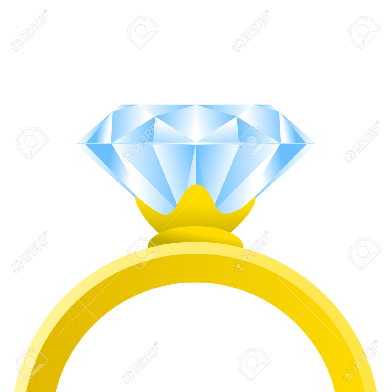 1300x1300 Diamond Ring Silhouette Vector Engagement Rings Stock