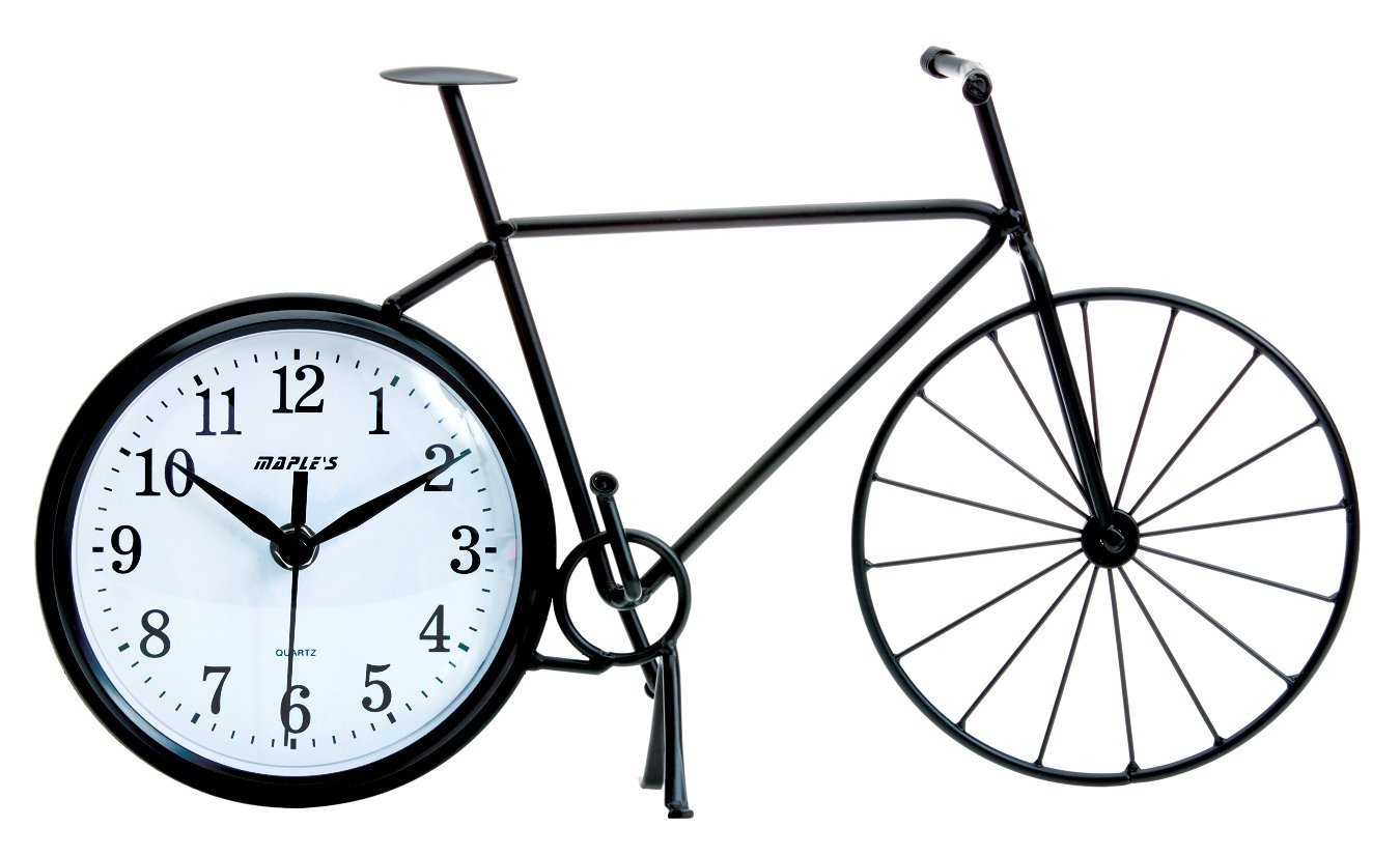 1350x826 Maple's Bicycle Silhouette Table Clock Home Amp Kitchen