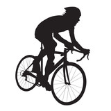 160x160 Cyclist Silhouette. Bicycle Racing Stock Image And Royalty Free