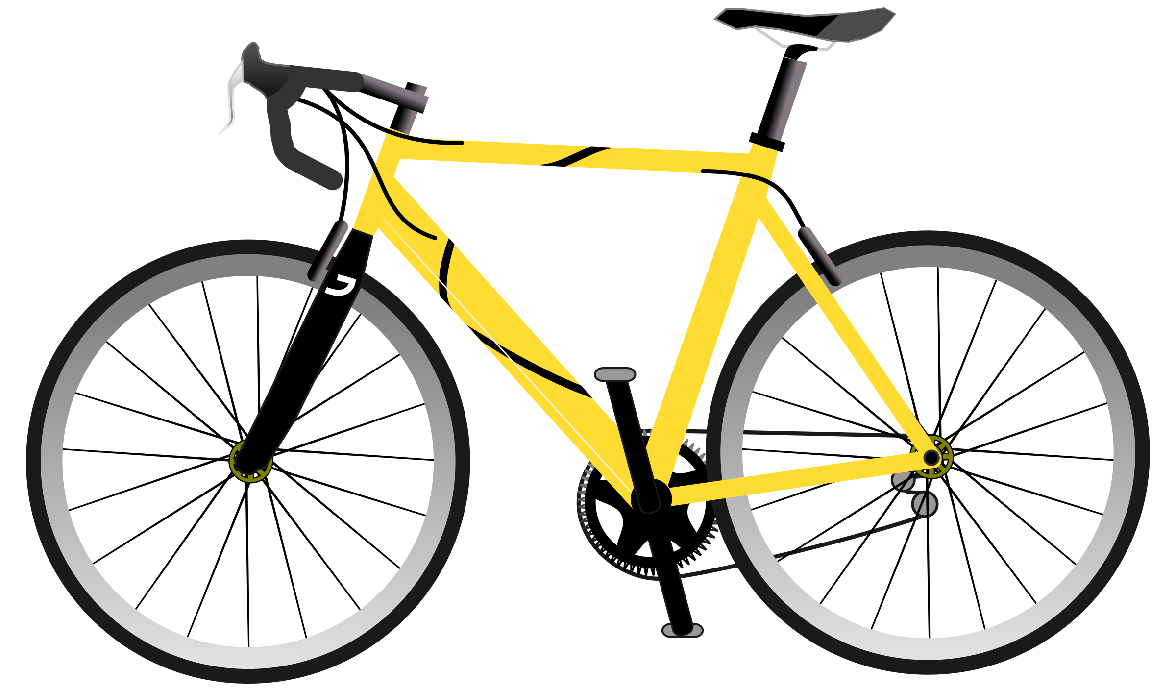 2400x1410 Road Bike Silhouette Png Clipart