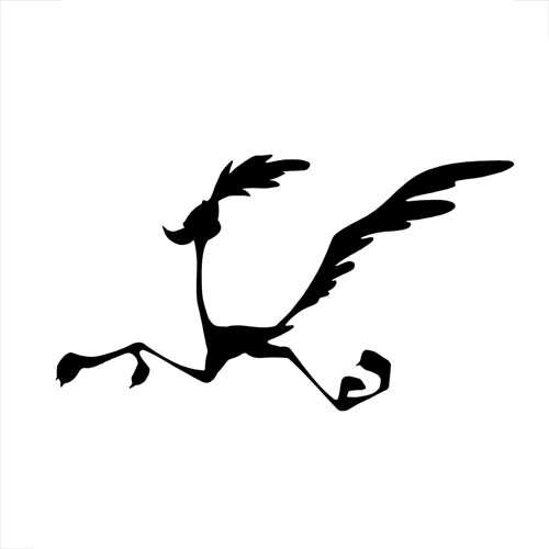 500x500 Image Result For Road Runner Cartoon Silhouette Stone Art