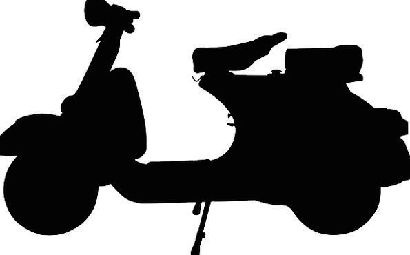 595x370 Scooter, Traffic, Outline, Transportation, Black, Dark, Silhouette