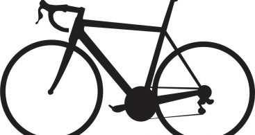 367x195 Bicycle Clipart Silhouette