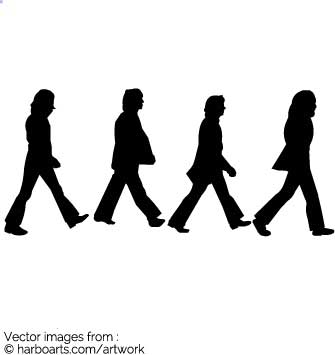 335x355 Download Beatles Abbey Road Silhouettes