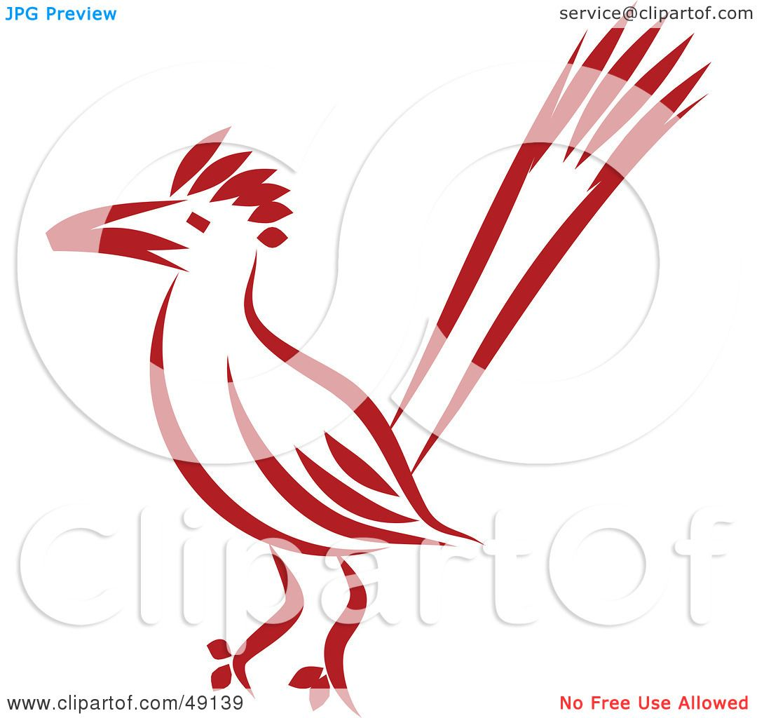 1080x1024 Royalty Free (Rf) Clipart Illustration Of A Red Roadrunner By